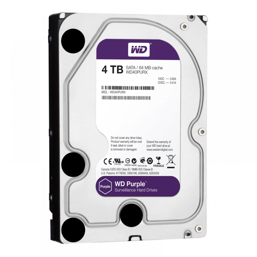 Ổ cứng HDD Western Purple 4TB 64MB Cache