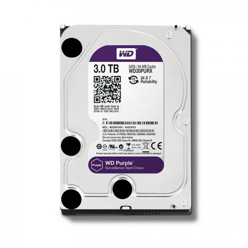 Ổ cứng HDD Western Purple 3TB 64MB Cache